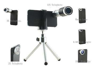 combo lens for iphone 4 and 4S macro, fish eye, wide angle, telephoto