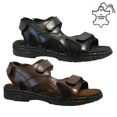 New Mens Leather Twin Walking Summer Holiday Beach Mules Sandals Shoes