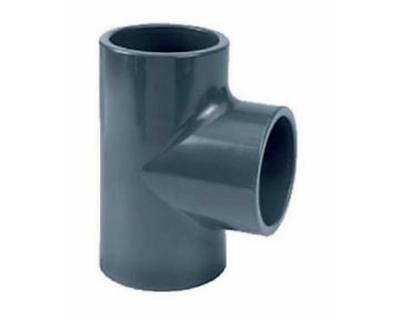 Grey PVC Pressure Tees- Pond Pipe Fittings - Solvent Weld