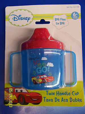 NEW IN PACKGE Mos For Ages 6 BPA Free Disney Cars Mater Twin Handle Sippy Cup