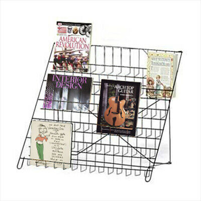 6 Tier Book, Dvd, Literature Wire Countertop Display Shelf Rack - Ctshf6
