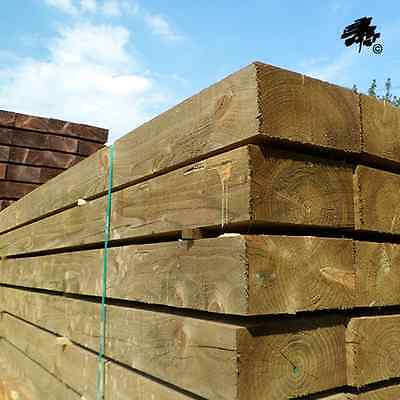 New Green Eco-Treated Softwood Sleeper (Various Sizes Available)