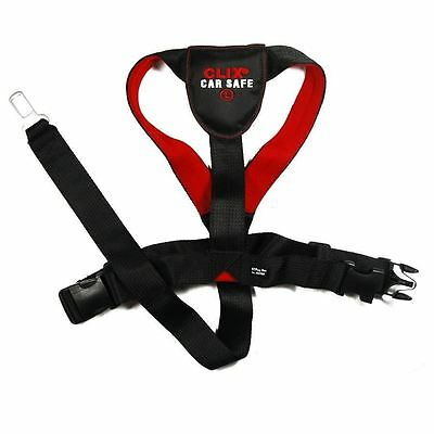 Clix Car Safe Dog/ Puppy Travel Seat Belt Clip Safety Harness- All Sizes