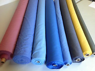 "Plain polycotton fabric Poplin 1 Metre 20 colours 45"" lowest  Price on EBAY !"