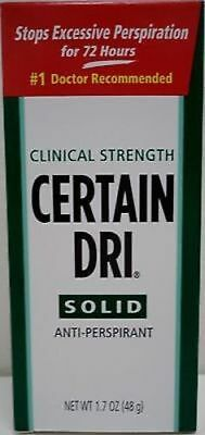 Certain Dri Solid Anti-Perspirant Clinical Strength  1.7 OZ (48 g)