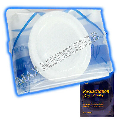 CPR Resuscitation Face Shield with Filter, First Aid Resus Mask - CE Marked