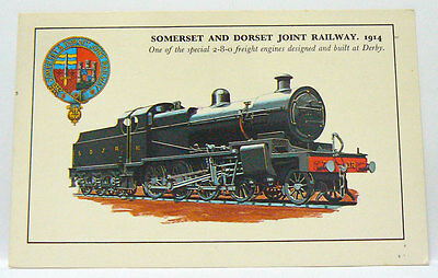 1859- Ak Postcard Somerset And Dorset Joint Railway 1914