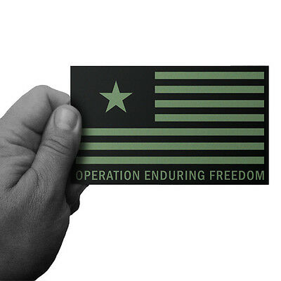 Operation Enduring Freedom Veteran Vinyl Decal (Subdued Flag) by Inkfidel