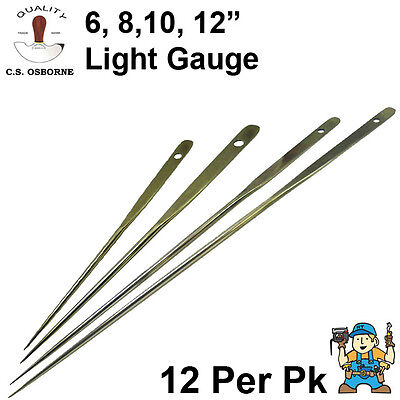 C.S. Osborne Light Gauge Upholstery Regulators 12 Pack (Regulator Needles)