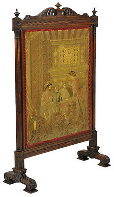 "Louis XVI Fire Screen Tapestry  32""x 25"" Very Fine SilK highlights Ca. 1880"
