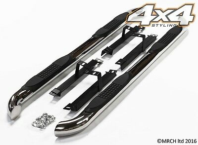 For Honda CRV 2007 - 2012 Chrome Side Steps Bars Running Boards Set