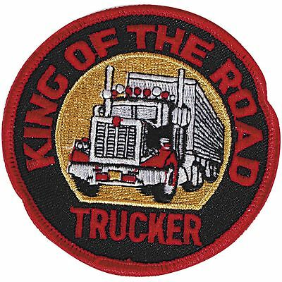 Aufnaeher Patch Applikation Motiv 8 cm Truck Trucker King of the Road 04292