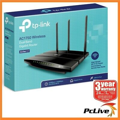 TP-Link Archer C7 Dual Band 1750Mbps Wireless AC Gigabit Router 5GHz USB Share
