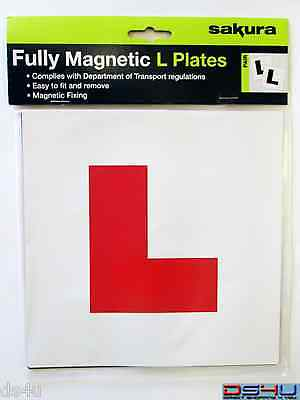 Fully Magnetic Red Learner L Plates Pack of 2