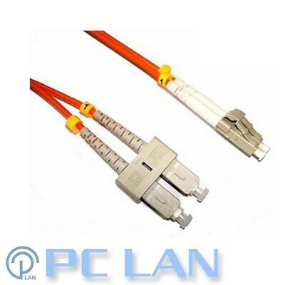 SC to LC 62.5/125 Multimode Fibre Optic Patch Lead Cable 20m
