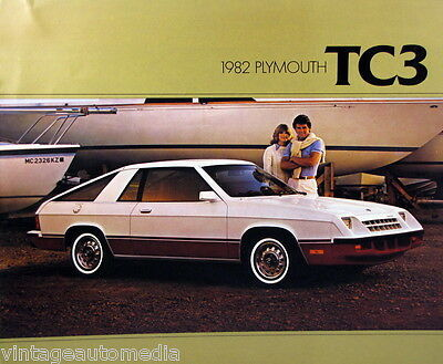 1982 Plymouth TC3 hatchback new vehicle brochure