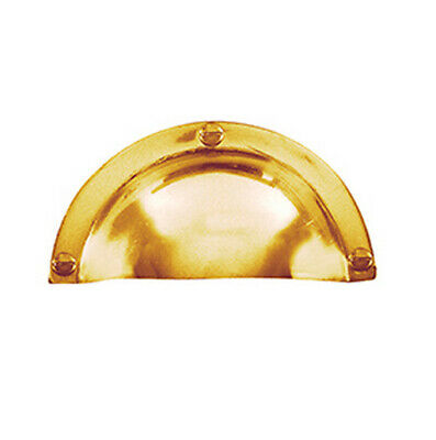 Delf Drawer Pull 5161PB 90x50mm Hooded Polished Brass