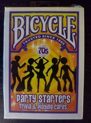NEW BICYCLE PARTY STARTERS TRIVIA & PLAYING CARDS 70'S EDITION