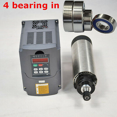 Four Bearings 2.2Kw Air Cooled Spindle Motor Er20 & Inverter Frequency Drive Vfd