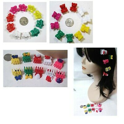 """Lot Of 20,100 Clips--  Small ( 1"""" Size) Flower Hair Clips  Hair Claws"""