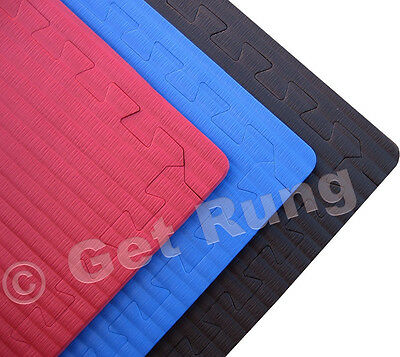 blue mixed martial art grappling interlocking floor mats mma wrestling boxing