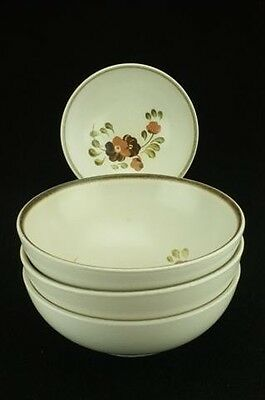 Lot of 4 Denby Serenade Stoneware Older Version Pattern Soup/Cereal Bowls 16cm