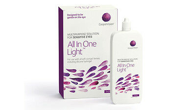 All In One Light Sauflon Coopervision Multipurpose Contact Lens Solution 3x250ml
