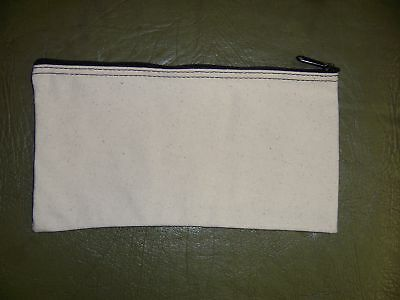 1 Brand New Heavy Natural Canvas Bank Deposit Money Bag
