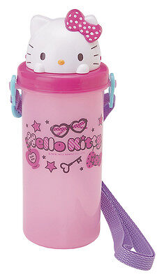 NEW SANRIO HELLO KITTY POP UP WATER BOTTLE with shoulder strap BPA FREE lovely