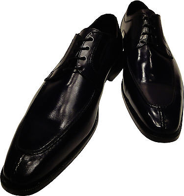 6cc4da5af64 Men s Ronaldo Handmade Solid Black Italian Leather Oxford Tie Dress Shoes   350