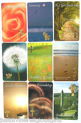Various Titles Prayer Verse Card  Leaflet Religious Gift Christian / Catholic