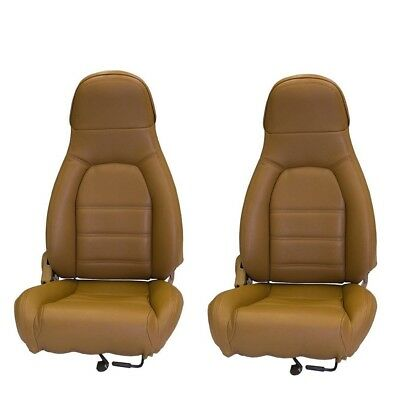 Fits 1990-1996 Mazda Miata, Pair of Front Seat Covers for Standard Seats, Tan