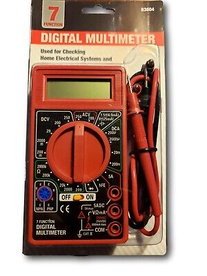 7 function digital multimeter battery tester meter voltmeter voltage tester omh