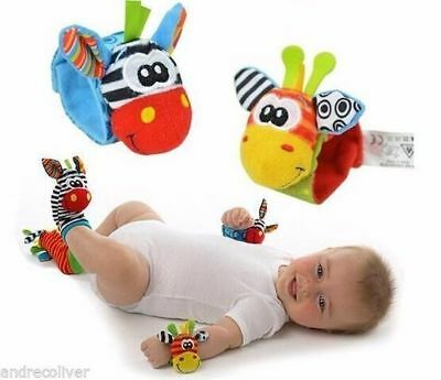 Wrist Rattle Foot Finder Sock Rattle.birth 12 Months Sozzy Toy Baby