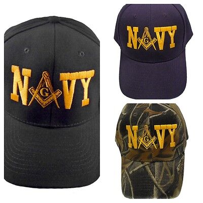 Navy Mason Hat Cap Embroidered in the USA 878PC