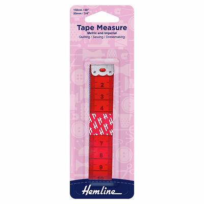 Double Sided Tape Measure Metric & Imperial 150cm with 10cm Coloured Sections