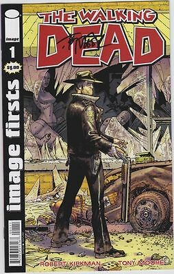 The Walking Dead # 1 Image Firsts Signed By Tony Moore