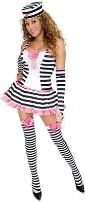 Prisoner of Love Striped Convict Fancy Dress Up Halloween Sexy Adult Costume  sc 1 st  PicClick & ADULT WOMENS PRISONER Of Love Criminal Fancy Dress Halloween Jail ...