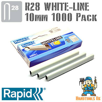 Rapid R28 10mm White Cable Staples 1000 -R28, Arrow T18, Rapesco CT45, Novus J19