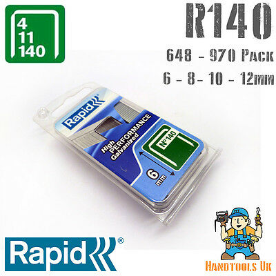 Rapid 140 Series Flatwire Proline Staples 6/8/10/12mm for R34 Tacker Handy Pack