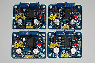 Usa! 4 Pcs Ne555 , Adjustable Frequency/square Wave Generator Module , 5-15 Vdc
