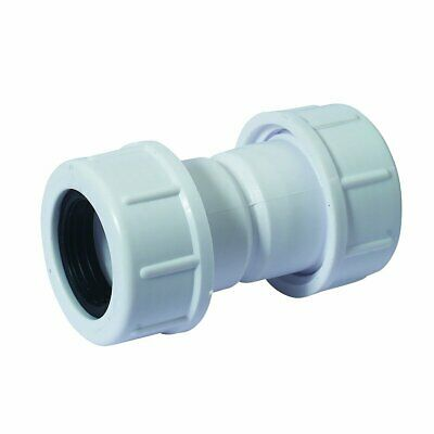 """McALPINE Universal Overflow Pipe Connector Coupling fits 19-23mm 3/4"""" Pipe R1M"""