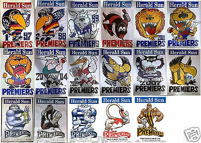 WEG Knight AFL Herald Sun Grand Final PREMIERS POSTERS Select From 1997 to 2014