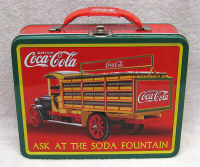 Ask At The Soda Fountain,  Coca-Cola Lunch Box Tin, New!