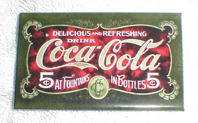 Classic Drink Coca-Cola Delicious And Refreshing At Fountains - Magnet, New!