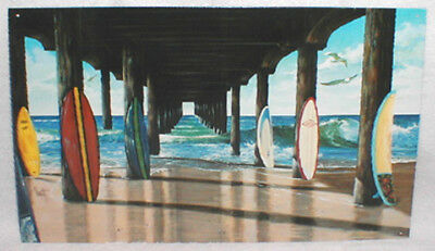 """Classic Surf Metal Sign """"pier Group"""" By Westmoreland, New!"""