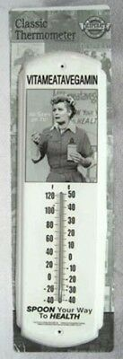 Nostalgic Lucy Vitameatavegamin Metal  Alcohol Thermometer - New