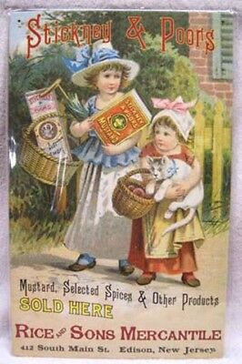 Stickney & Poors - Mustard & Spices Metal Sign, New!