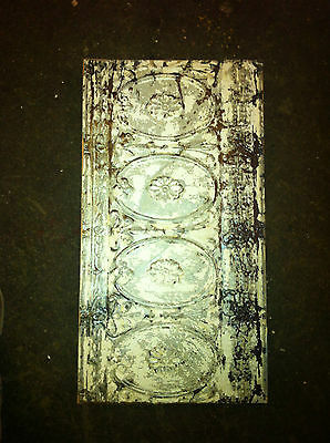 "Tin Ceiling Trim Panel Paint Enhanced 13"" x 24+"" Ready to Hang"
