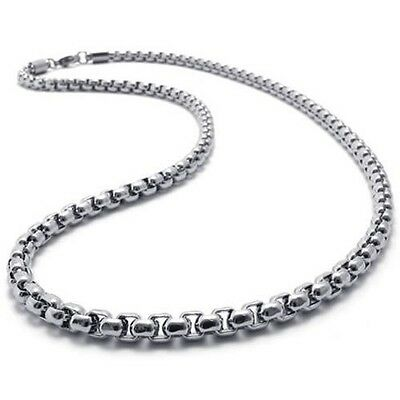 """2mm-5mm 16""""-40"""" Silver Stainless Steel Square Rolo Necklace Chain HN9 USA Seller"""